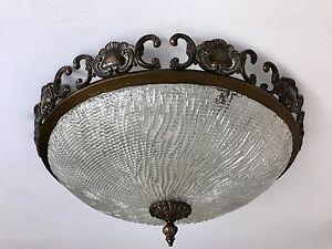 Plafoniere Messing : Plafoniere deckenlampe kaiser aus messing kristallglas 58cm ebay