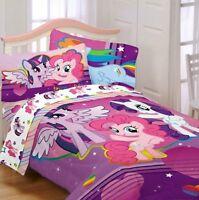 My Little Pony Fied Girl Twin Single Comforter & Sheet Set, 4 Piece Bedding, NEW