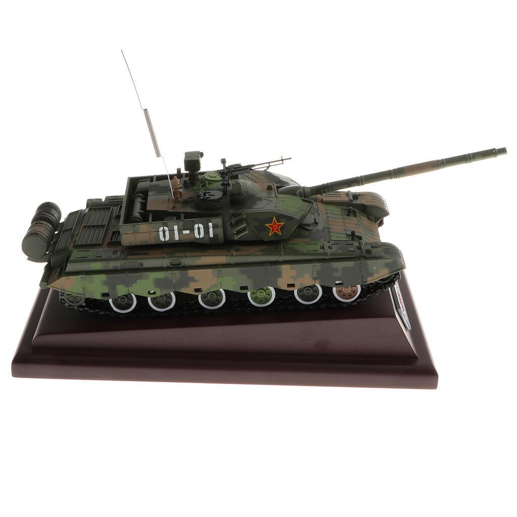 1:40 SCALA cinese ZTZ-99 Heavy MAIN BATTLE TANK MODEL visualizzazione da collezione