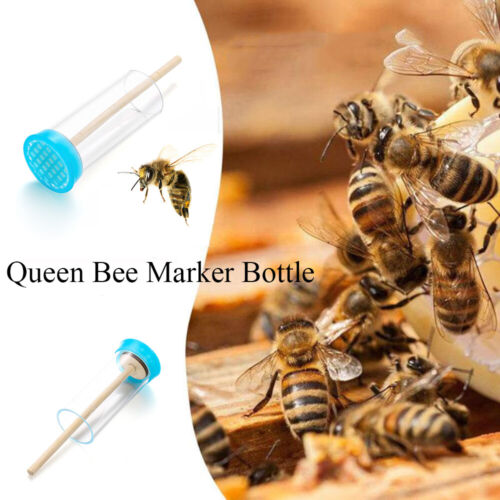 Rotary Cage Beehive Queen Bee Marking Insect Catcher No-hurt Marker Bottle