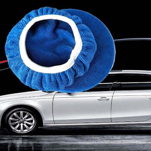 Blue Microfiber Soft Car Polishing Waxing Polisher Bonnet Buffing Pad Cover