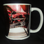 or 4 Lowrider COFFEE MUG Wire Wheel Knockoff Cup 11 oz Red  single set of 2