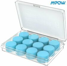 6 Pairs Mpow Super Soft Silicone Ear Plugs Sleep Study 28db Snr Noise Reduction