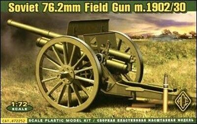 Models & Kits Ace — 76.2mm Soviet Gun Model 1902/1930 — Plastic Model Kit 1:72 Scale #72252 Always Buy Good