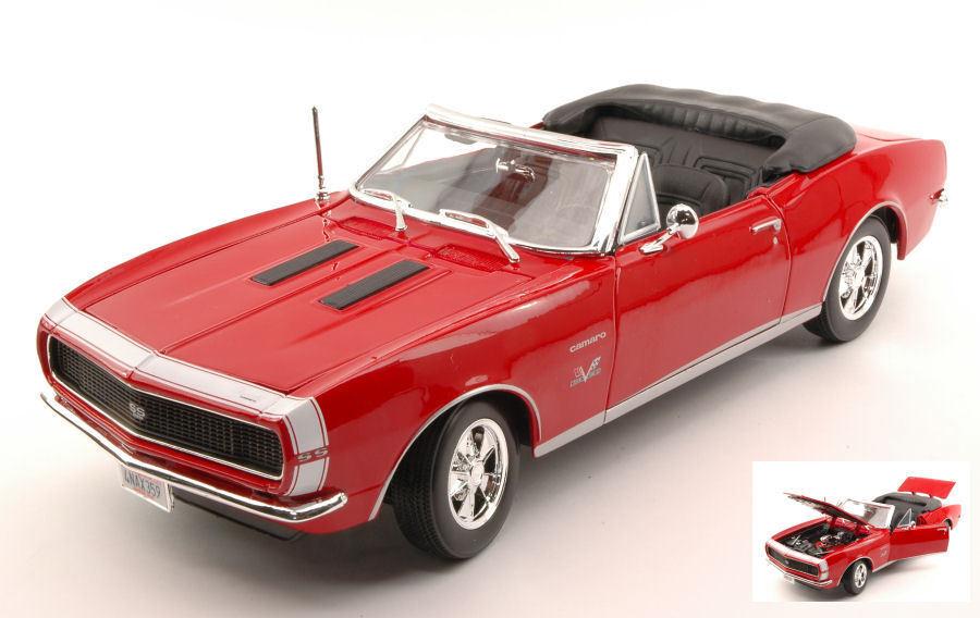 Chevrolet Camaro SS 396 396 396 1967 rojo 1 18 Model MAISTO f7395d