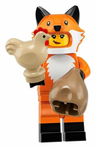 NEW Lego 71025 Series 19 FOX SUIT GIRL w// Chicken /& Sack~Costume~SEALED~IN HAND!