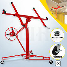 BN 11' Drywall Rolling Lifter Panel Hoist Jack Caster Construction Lockable Tool