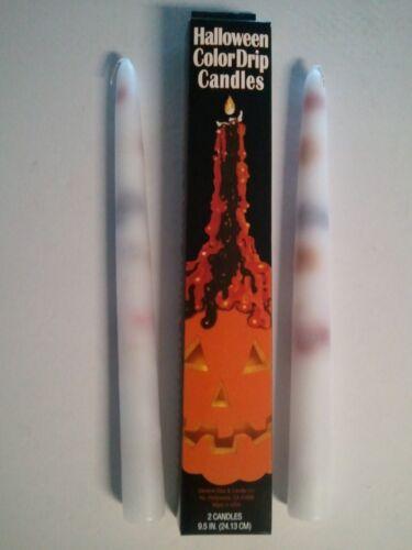 "12 packs of 2 24 BLACK /& ORANGE TAPER DRIP CANDLES 3//4/"" x 9 1//2/"" Halloween"