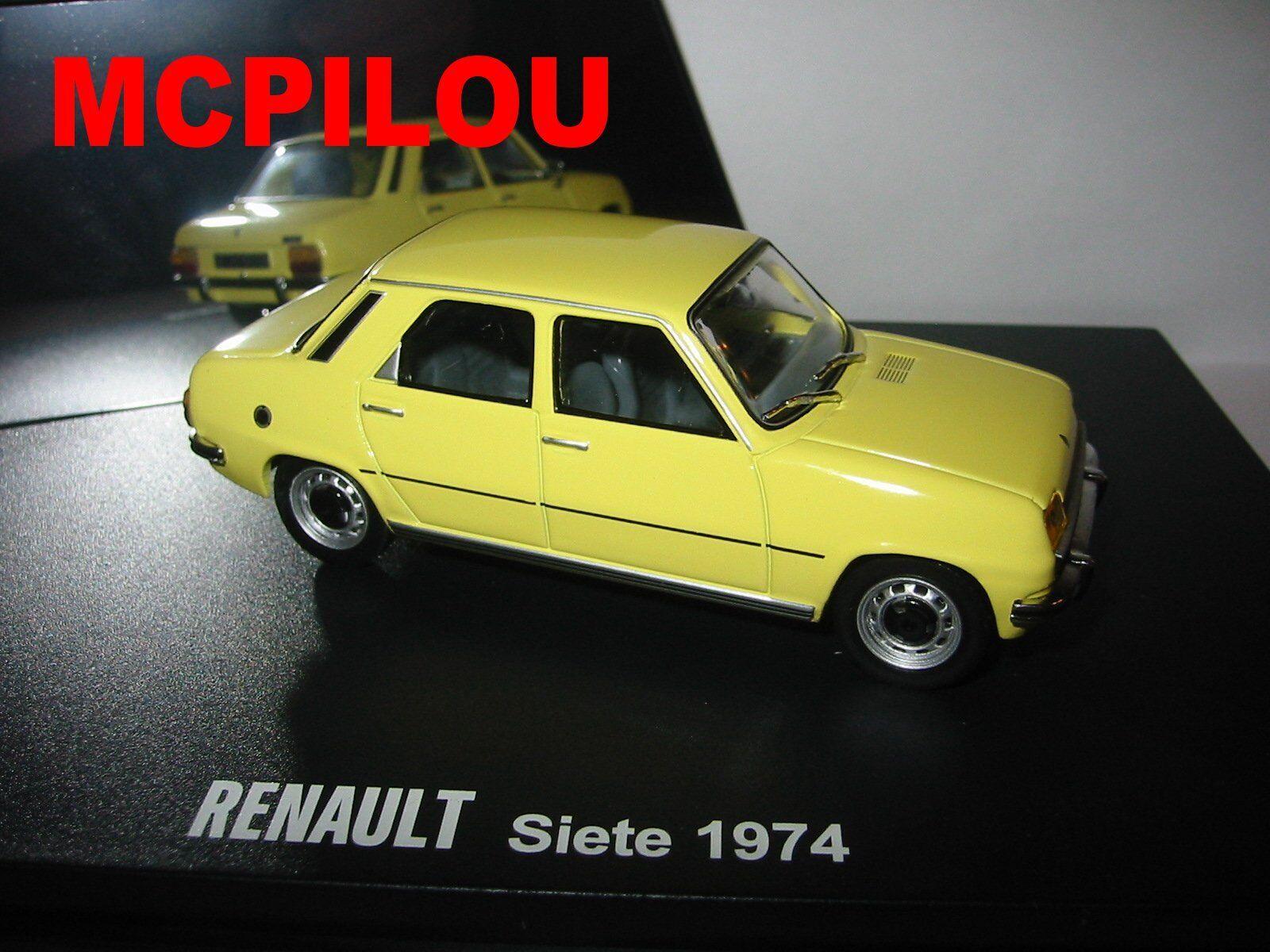 IXO RENAULT 7 SIETE yellow 1974 1974 1974 au 1 43° 667ecd