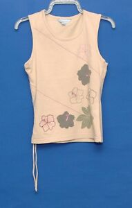 BEIGE-ROUND-NECK-SLEEVELESS-TOP-WITH-FLOWER-PATTERN-SIZE-8-10