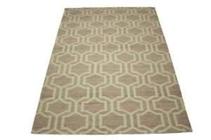 Tapis-Tisse-a-Plat-160x230-cm-Polyester-Coton-Mauve