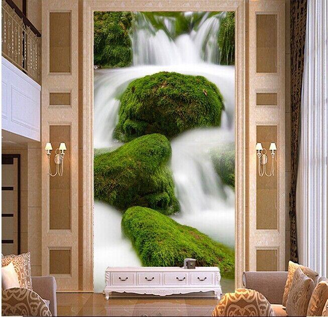 3D ruscello 293 Parete Murale Foto Carta da parati immagine sfondo muro stampa