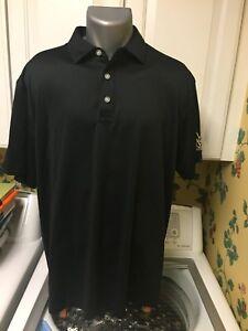 Callaway-Opti-Dri-Men-039-s-Golf-Polo-Shirt-Size-L-Black-Polyester-M-amp-M-Group-Logo