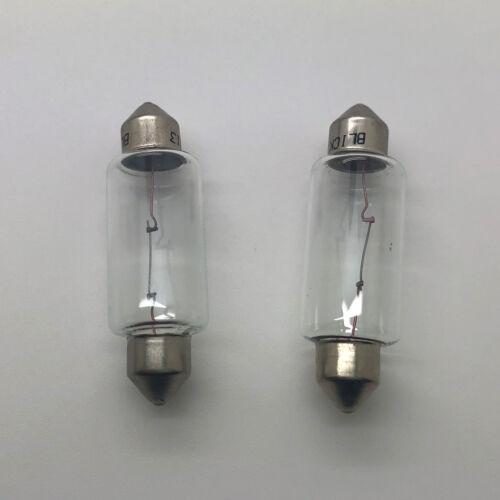 2 x 267 12v 10w Festoon Car Number Plate Interior Light Bulb S8.5d 15x43mm