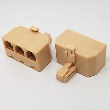 RJ11 Splitter 1 Male to 3 Female Adapter Divider Telephone Phone Fax