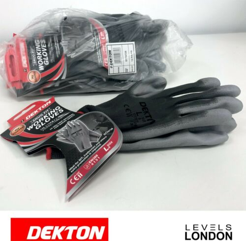 Tape /& Jointing Dekton glove PU Protection builders snug fit work gloves L XL