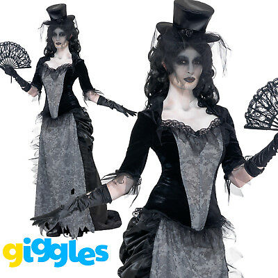 Zombie Corpse Bride Costume Womens Ladies Halloween Ghost Fancy Dress Outfit