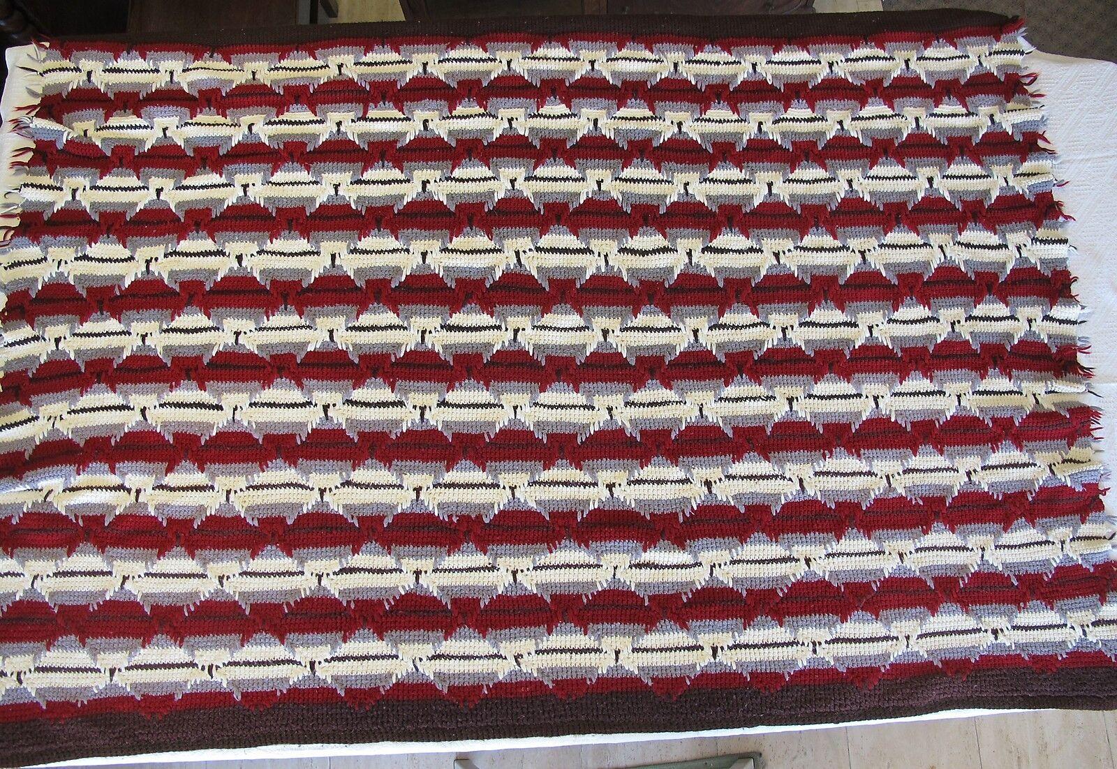 Handmade Afghan 72  x 48  Geometric Southwest Pattern