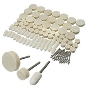 88-Pcs-Wool-Felt-Polishing-Wheels-Buff-Pad-With-Mandrel-For-For-All-Rotary-D5Q5