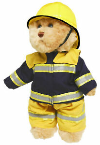 TIC-TOC-TEDDY-FIRE-FIGHTER-JOINTED-BEAR-IN-BUSH-FIRE-FIGHTERS-OUTFIT