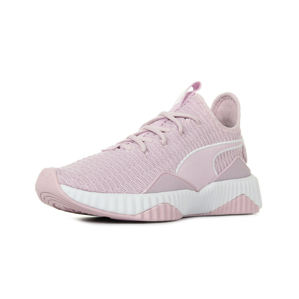Chaussures Baskets Puma femme Defy Wn's taille Rose Textile Lacets