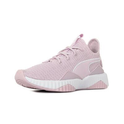 basket puma femme blanc et rose