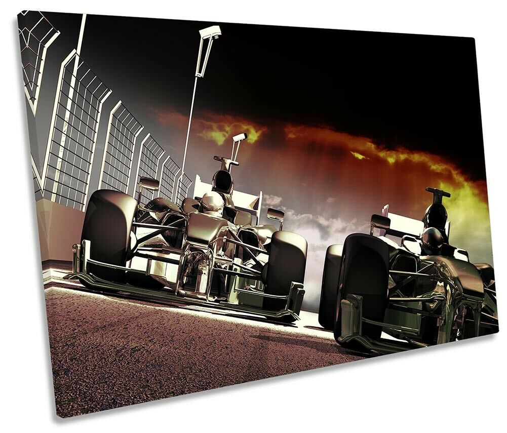 Formula Formula Formula One Race Cars F1 Picture SINGLE CANVAS WALL ART Print 1090ba
