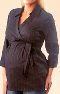 Brand New Maternity Forceful ^almost Mum Maternity/breastfeeding Blouse Navy Blue