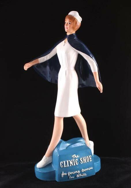 Hermosa 2 pies clínica zapatería Cartel De Publicidad Muñeca Estatuilla De Ropa Enfermera
