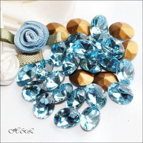 Swarovski Aquamarine gold déjouée ovale cristal strass 4130//2 taille sélectionner