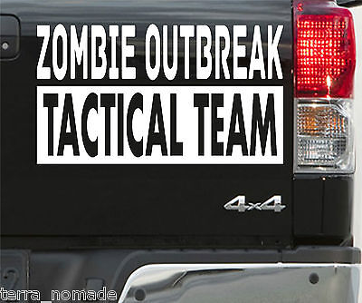 Land Rover 4x4 Decal Funny, Large ZOMBIE RESPONSE Vehicle Stickers