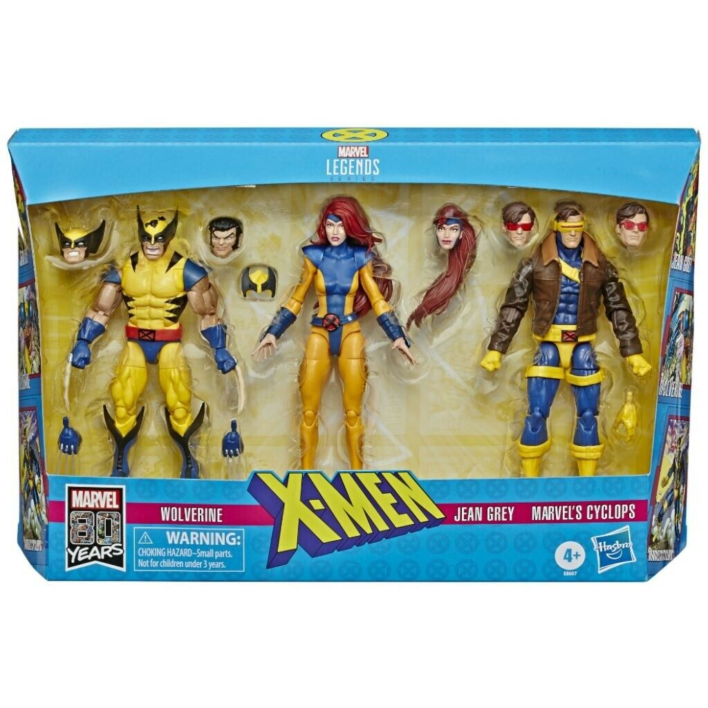 Hasbro Marvel 80th Anniversary Legends Xessi Jean grigio Cyclops Wolverine 3 Pack