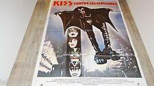 KISS contre les fantomes ! affiche cinema hard rock vintage  1978