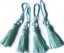 LIGHT MINT BEADED COTTON KEY TASSELS X4 CUSHIONS//BLINDS//CURTAINS ETC ART 3336