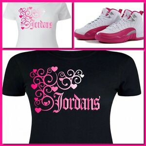 78ef08043097 LADIES   WOMENS TEE SHIRT to match the NIKE JORDAN XII 12 VALENTINE ...