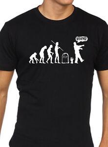 Zombie-T-Shirt-Divertente-Uomo-Evolution