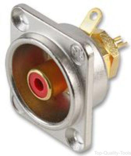 Rosso NF2D-2 D Shell Phono NEUTRIK PRESA