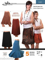 Jalie Gored Knit Skirts Sewing Pattern 5 Styles 2681 Women & Girls 27 Sizes
