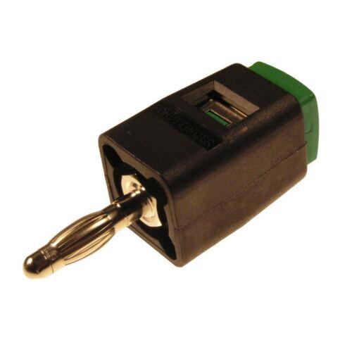 Schützinger SDK502 grün Stecker-Schnelldruckklemme 16A für 4mm Buchsen 853601