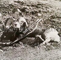 Antique Hunting Repro 8x10 Photograph Fred Bear With Full Curl Sheep