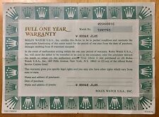 ROLEX Certificate Guarantee AIRKING AIR KING EXPLORER Dial 5500 1981/1982 Steel