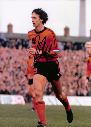 Johan Cruyff Signed 12X8 Photo HOLLAND AFTAL COA 1669