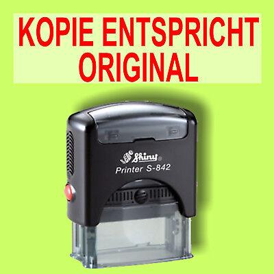 Kopie Entspricht Original - Shiny Printer Schwarz S-842 Büro Stempel Kissen Rot