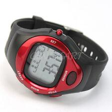 Orologio Cardiofrequenzimetro Digitale Calorie da Polso Colore Rosso Rotondo