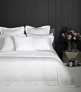 200TC-100-coton-blanc-duvet-Quilt-Cover-Set-Simple-Double-King-Super-King