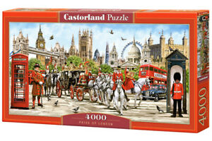 "Castorland Puzzle 4000 Pieces - PRIDE OF LONDON - 54""x27"" Sealed box C-400300"