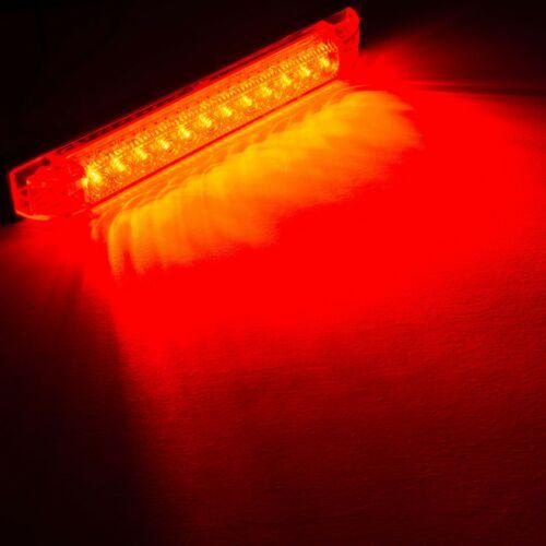 "6/"" x 1/"" Red LED RV Utility Strip LightSlim LineBoat Light12 LEDs2 pk"