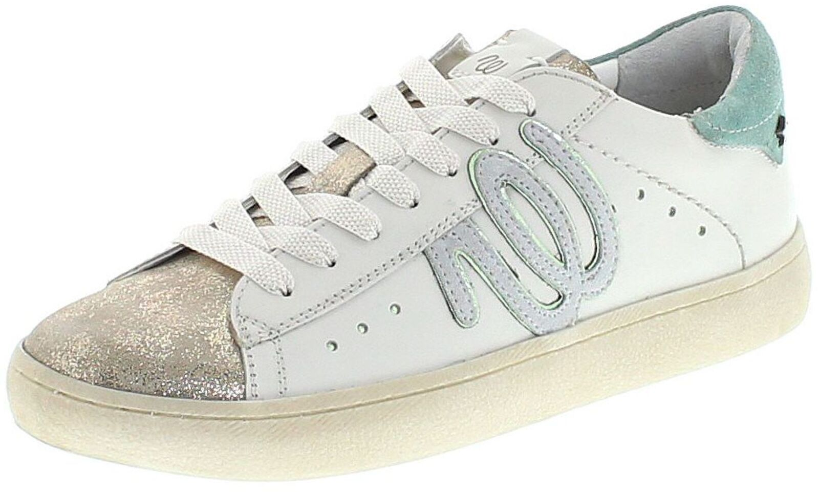 Wrangler wl181532 Clever WRG argent vert chaussures en Cuir Pour femmes blanc vert