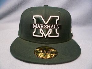 New-Era-59fifty-Marshall-Thundering-Herd-Solid-BRAND-NEW-cap-hat-Fitted-The-Herd