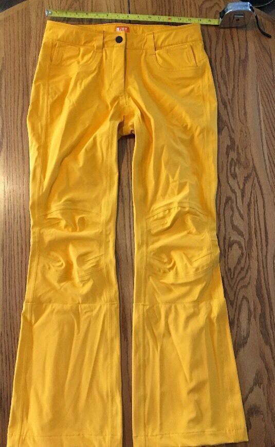 Jet Set Women's Yellow orange Ski Pants Milano Italia  High End Fashion Rarity  for sale online